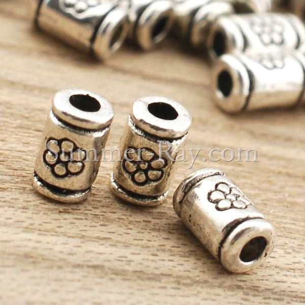 Tibetan Silver Spacer Beads (T406) - 100 pieces