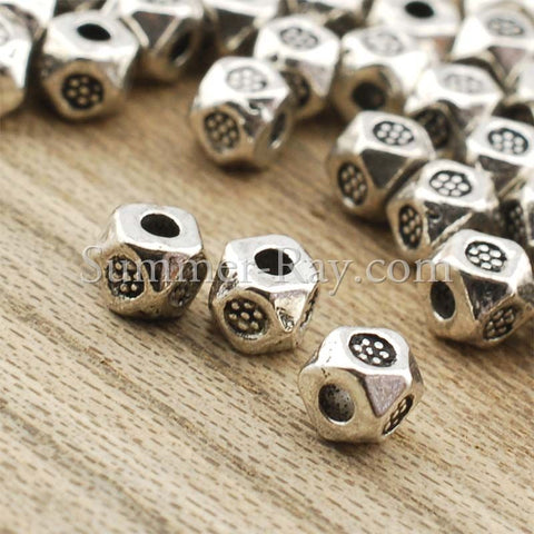 Tibetan Silver Spacer Beads (T415) - 100 pieces