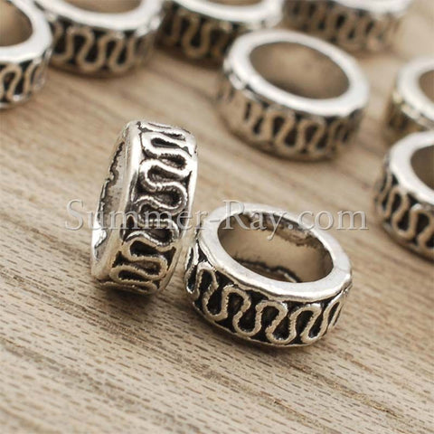Tibetan Silver Spacer Beads (T563) - 100 pieces