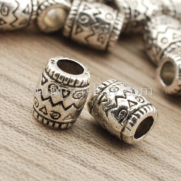 Tibetan Silver Spacer Beads (T756) - 50 pieces
