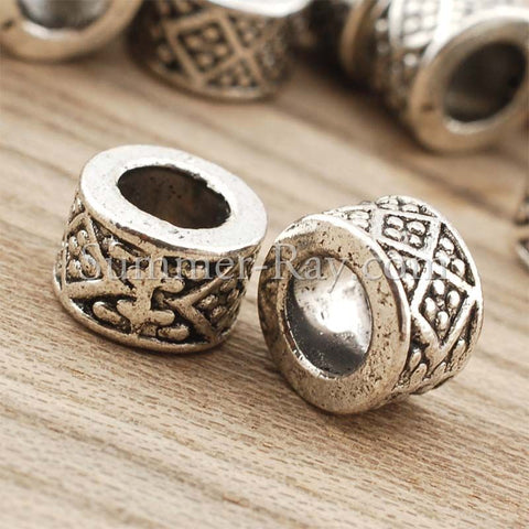 Tibetan Silver Spacer Beads (T8485) - 50 pieces
