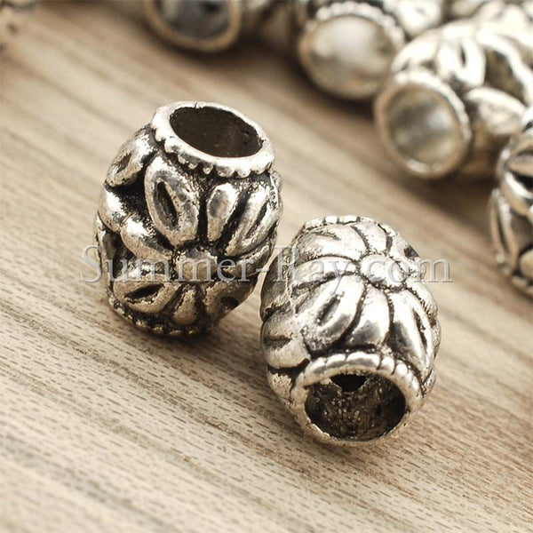 Tibetan Silver Spacer Beads (T855) - 50 pieces