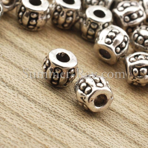 Tibetan Silver Spacer Beads (T878) - 100 pieces