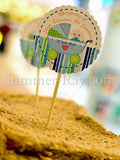 DIY Personalized Baby Shower/Christening Cupcake Topper