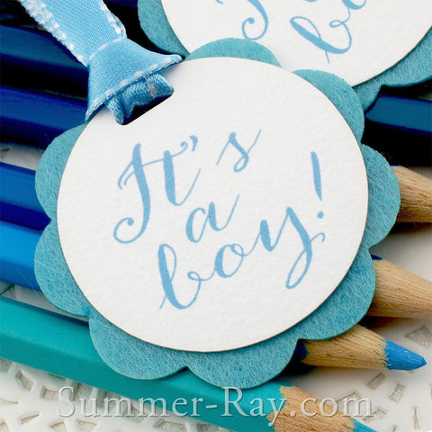 """It's a Boy"" Baby Shower Gift Tags"