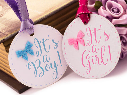 Oh Baby It's a Boy It's a Girl Baby Shower Gift Tags