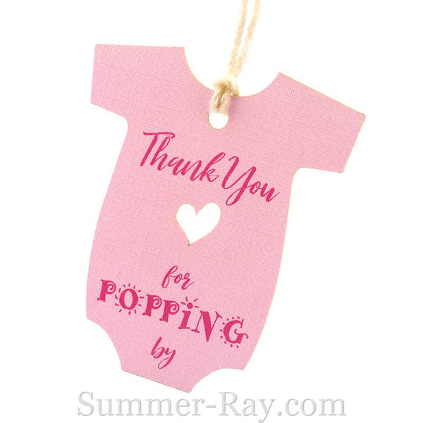Baby Onesie Baby Shower Thank You Gift Tags Summer Ray