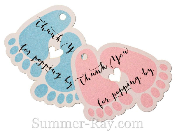 Baby Feet Baby Shower Thank You Gift Tags Summer Ray