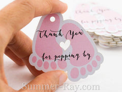 Baby Feet Baby Shower Thank you Gift Tags