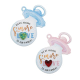 We're Adding S'More Love Baby Pacifier Baby Shower Tags with Rhinestone