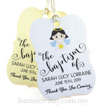 Personalized Little Violin Baptism Gift Tag
