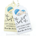 Personalized Royale Baby Boy or Girl Baptism Gift Tag