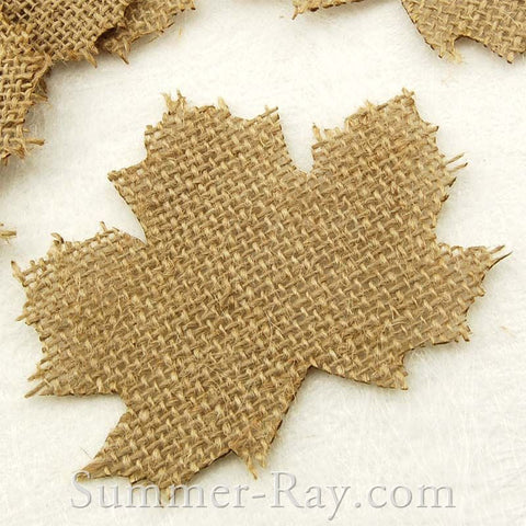 Burlap Maple Leaves