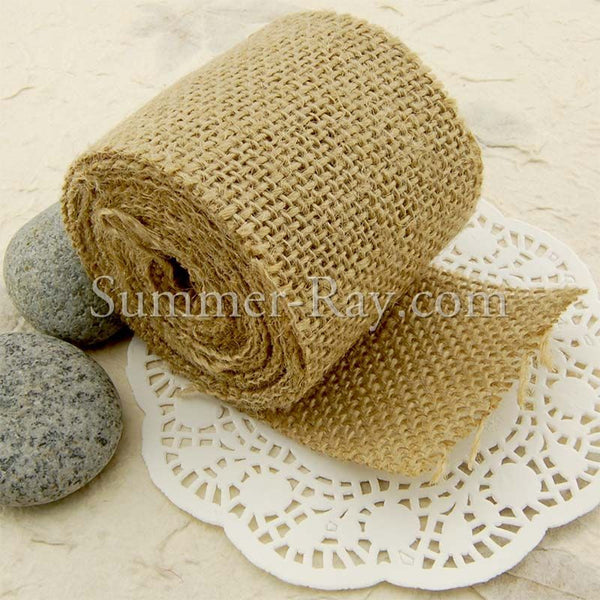 60 mm Natural Jute Burlap Ribbon