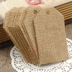 Burlap Tag with Jute Twine