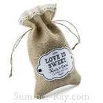 Personalized White Gift Tags and Brads for Burlap Bags
