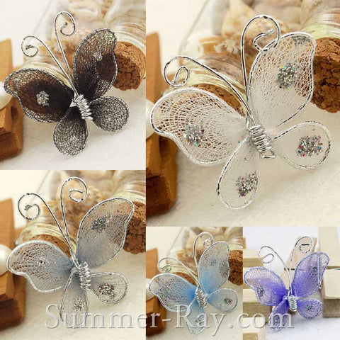 Stocking Butterflies 2.5cm - 100 pieces