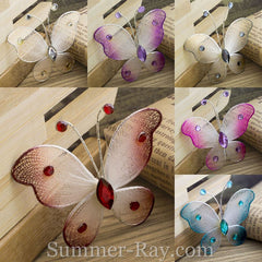 Stocking Butterflies Double Toned 4cm - 50 pieces