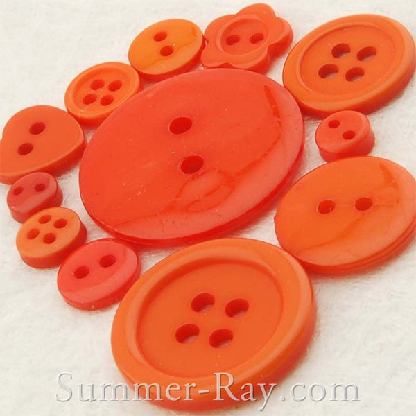 Doll Button Mixed Orange Series