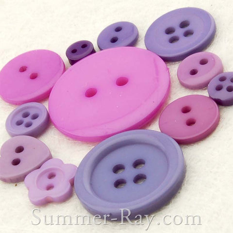 Doll Button Mixed Purple Series