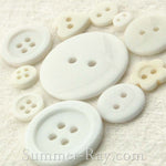 Doll Button Mixed White Series