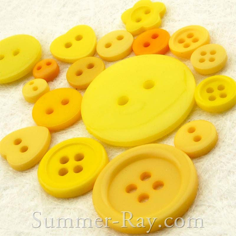 Doll Button Mixed Yellow Series