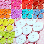 15 mm (2 eye) Doll Buttons