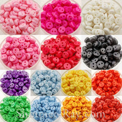 Doll Buttons 6mm (2 eye) - 200 pieces