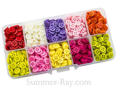 Doll Buttons 7mm (4 eye) in Storage Box - 800 pieces