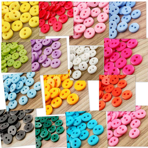 Doll Buttons 9mm (2 eye) - 200 pieces