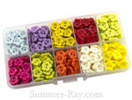 Doll Buttons Daisy (2eye) in Storage Box - 500 pieces