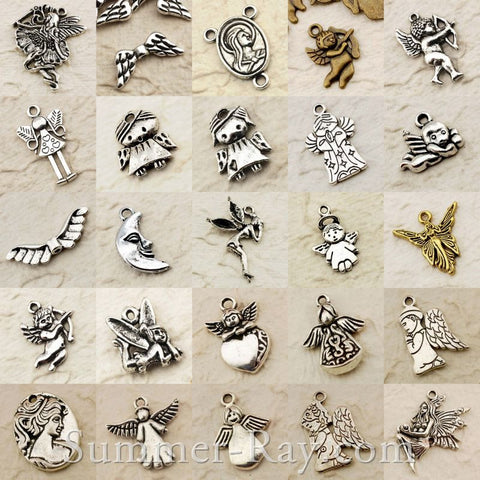 Tibetan Silver Fairy Angel Cupid Charm Pendant Mix