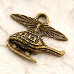 Tibetan Antique Bronze Helicopter Charm Pendant