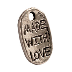 Tibetan Silver Made-with-Love Charm Pendant