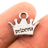 Tibetan Silver Princess Crown Charm Pendant