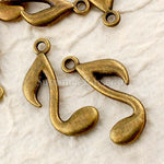 Tibetan Antique Bronze Quaver Note Charm Pendant