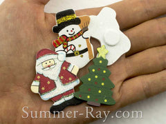 Wooden Christmas Embellishment Mixed Set