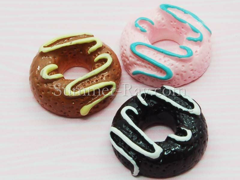 Cabochon Resin Creamy Donuts