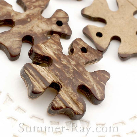 Coconut Shell Irish Flower Buttons