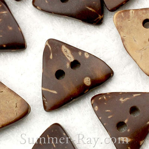 Coconut Shell Triangle Buttons