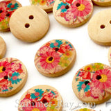2-Eye Colorful Wooden Buttons