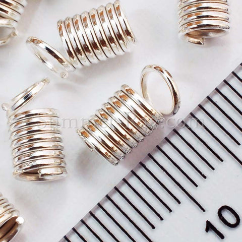 Silver Plated Crimp Coil End Connector