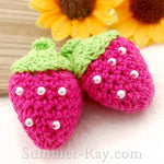 Strawberry Crochet Embellishments