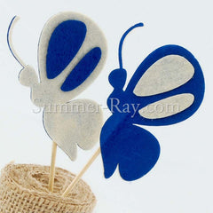 Ivory - Royal Blue