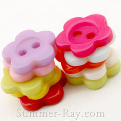 Doll Buttons Daisy (2eye) - 100 pieces