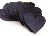 Denim Fabric Heart Cutout Wedding Decor Sewing Craft Pillow Heart Mixed