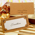 Personalized Vintage Frame Double-Layered Wedding Place Card