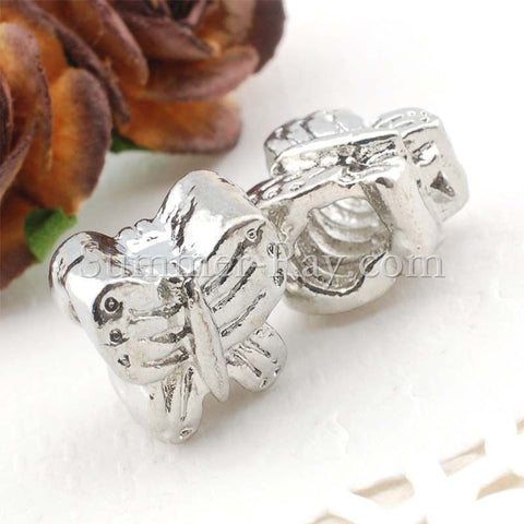 Center Threaded Spacer Butterfly Beads