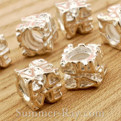Center Threaded Spacer LOVE Beads