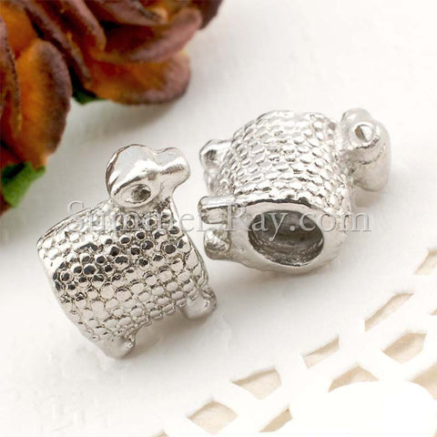 Center Threaded Spacer Sheep Beads